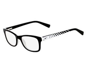 Nike 5509-010 Kids Eyeglasses Black/White Black