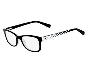 Nike 5509-010 Kids Eyeglasses Black/White Black