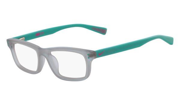 Nike 5535-050 Kids Eyeglasses Wolf Grey/Aurora Green