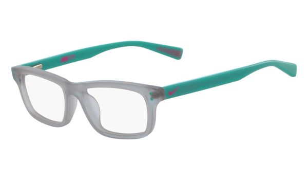 Nike 5535-050 Kids Eyeglasses Wolf Grey/Aurora Green