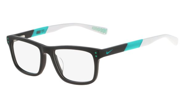 Nike 5536-070 Kids Eyeglasses Dark Grey/Hyper Jade