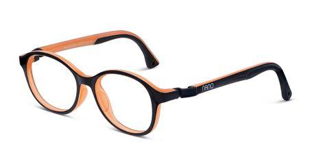 Nano Sprite Children's Glasses Black/Orange Fluor