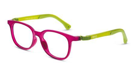 Nano NAO660144 Pixel Children's Glasses Crystal Raspberry/Green Eye Size 44-16