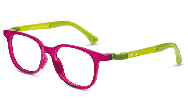 Nano NAO660144 Pixel Children's Glasses Crystal Raspberry/Green Eye Size 44-16 (6-8 Years)