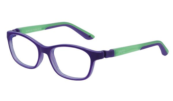 Nano NAO621142 Camper Kids Eyeglasses Matte Purple/Glowing Green Eye Size 42-15 (2-4 Years)