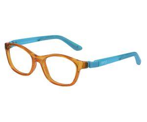 61ec21c3ae0 Nano NAO621242 Camper Kids Eyeglasses Crystal Orange Glowing Blue Eye Size  42-15 (
