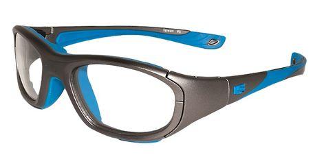 Liberty Sport Protective Glasses Rec Specs RS-40 Matte Grey/Cyan #322