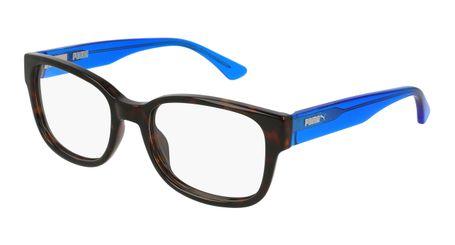 Puma Junior Kids Eyeglasses PJ0002O-008 Havana/Light Blue