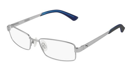 Puma Junior Kids Eyeglasses PJ0012O-007 Silver/Silver