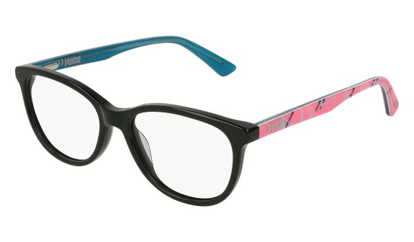 Puma Junior Kids Eyeglasses PJ0021O-002 Black/Multi