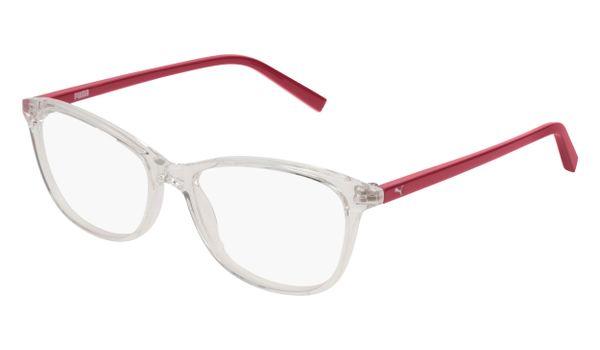 Puma Junior Kids Eyeglasses PJ0033O-003 Crystal/Red
