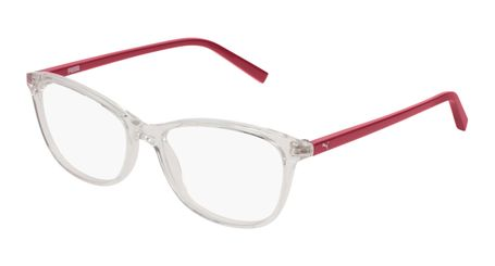 Puma Junior Kids Eyeglasses PJ0033O-003 Crystal/Red