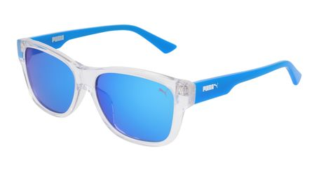Puma Junior Kids Sunglasses PJ0004S-008 Crystal/Light Blue