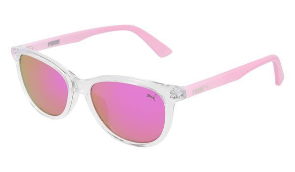 Puma Junior Kids Sunglasses PJ0022S-006 Crystal /Pink Lenses