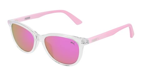 Puma Junior Kids Sunglasses PJ0022S-006 Crystal /Pink Lenses