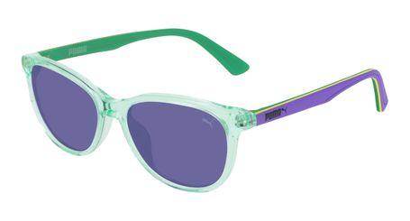Puma Junior Kids Sunglasses PJ0022S-011 Crystal Blue/Violet Lenses