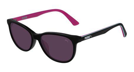 Puma Junior Kids Sunglasses PJ0022S-012 Black/Violet Lenses