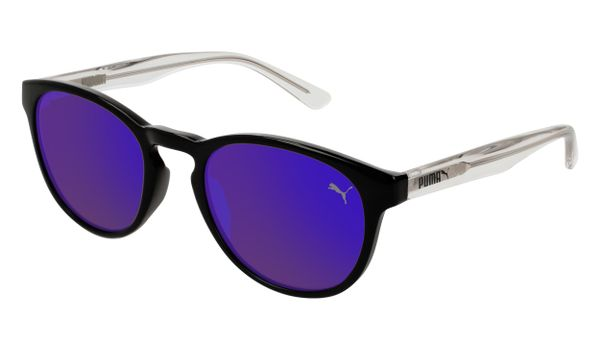 Puma Junior Kids Sunglasses PJ0024S-005 Black/Violet Lenses