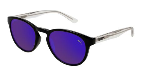 Puma Junior Kids Sunglasses PJ0024S-005 Black/Violet Lenses