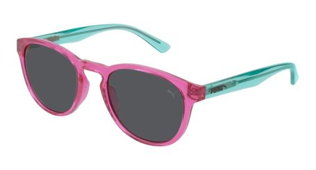 Puma Junior Kids Sunglasses PJ0024S-006 Pink/Smoke Lenses