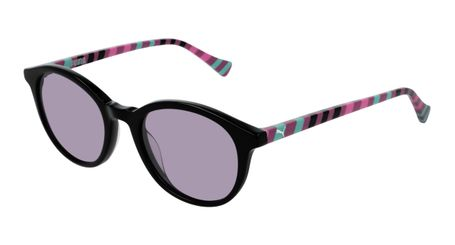 Puma Junior Kids Sunglasses PJ0034S-002 Black/Violet Lenses