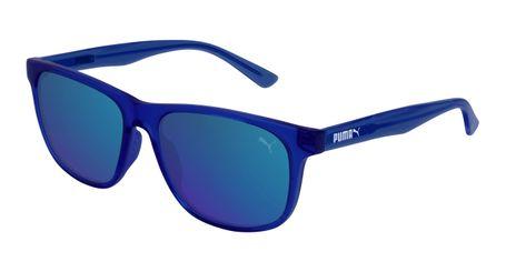 Puma Junior Kids Sunglasses PJ0025S-005 Blue/Blue Mirror Lenses