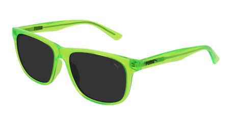 Puma Junior Kids Sunglasses PJ0025S-006 Green/Smoke Lenses