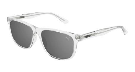 Puma Junior Kids Sunglasses PJ0025S-007 Crystal/Silver Mirror Lenses