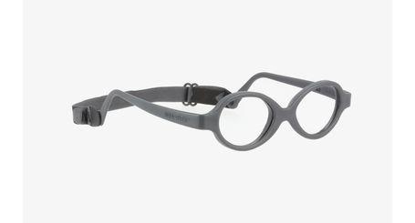 Miraflex Baby Zero Baby Eyeglasses Dark Gray-J