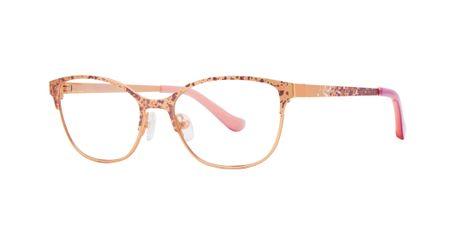 Kensie Girl Splatter Kids Eyeglasses Rose Gold