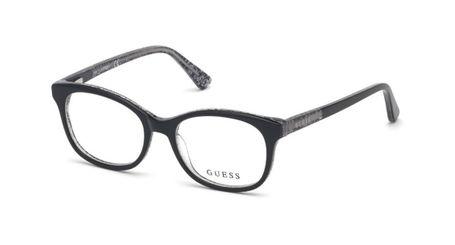 Guess Kids GU9181 Girls Eyeglasses Shiny Black 001