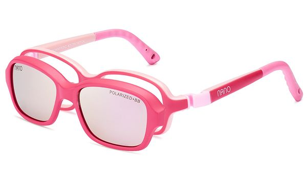 Nano NAO50170HSC Replay Kids Eyeglasses Matte Dark Pink/Pink Eye Size 44-16 (4-6 Years)