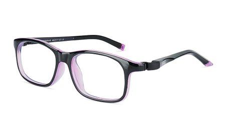 Nano Sleek Arcade Kids Eyeglasses Crystal Black/Violet