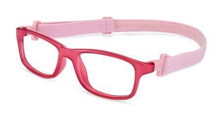 Nano NAO57544 Crew Kids Eyeglasses Crystal Pink/Pink Eye Size 44-16 (6-8 Years)