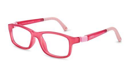 Nano NAO57546 Crew Kids Eyeglasses Crystal Pink/Pink Eye Size 46-17 (8-10 Years)