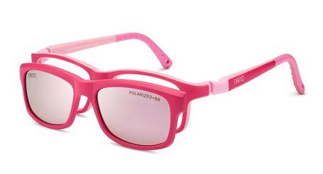 Nano NAO571946HSC Crew Kids Eyeglasses Matte Dark Pink/Pink Eye Size 46-17 (8-10 Years)
