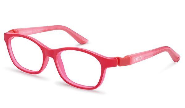 Nano NAO620942H Camper Kids Eyeglasses Matte Pink/Glowing Pink Eye Size 42-15 (2-4 Years)