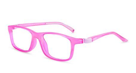 Nano Sleek Crew Kids Eyeglasses Crystal Pink/Pink