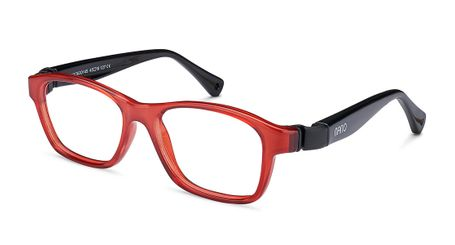 Nano Gaikai Kids Eyeglasses Crystal Red/Black
