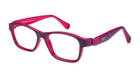 Nano Gaikai Kids Eyeglasses Matte Dark Purple/Fuchsia