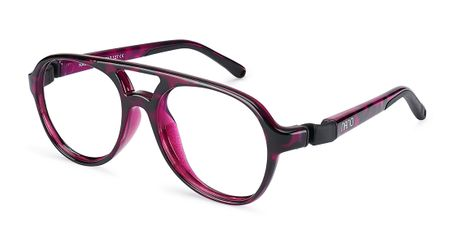 Nano Gran Turismo Kids Eyeglasses Crystal Pink Tortoiseshell/Black