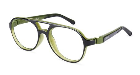 Nano Gran Turismo Kids Eyeglasses Crystal Black/Khaki