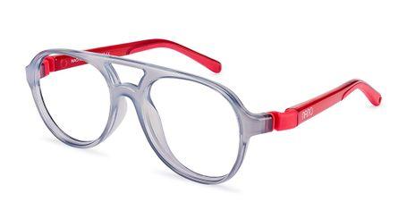 Nano Gran Turismo Kids Eyeglasses Crystal Grey/Red