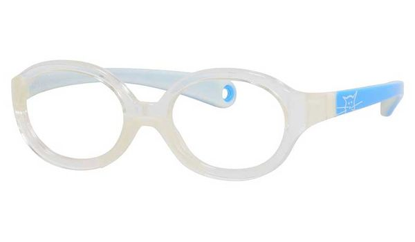 Kids By Safilo Sa0001 Eyeglasses Crystal Blue White 0I76