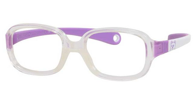 Kids By Safilo Sa0002 Eyeglasses Crystal White Lilac 0GUC