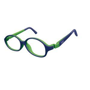 Nano NAO51844 Popping Kids Eyeglasses Blue/Lime Eye Size 44-15