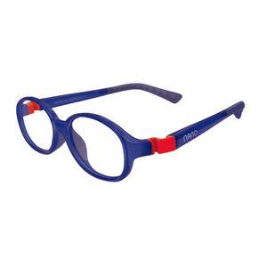 Nano NAO51544 Popping Kids Eyeglasses Marine/Red Eye Size 44-15