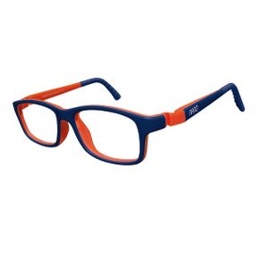 Nano NAO57146 Crew Kids Eyeglasses MT Blue Marine/Orange Eye Size 46-17