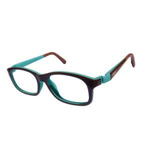 Nano NAO52846 Arcade Kids Eyeglasses Chocolate/Turqoise eye Size 46-17
