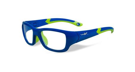 Wiley X Youth Force WX Flash YFFLA02 Kids Sports Glasses Royal Blue/Lime Green